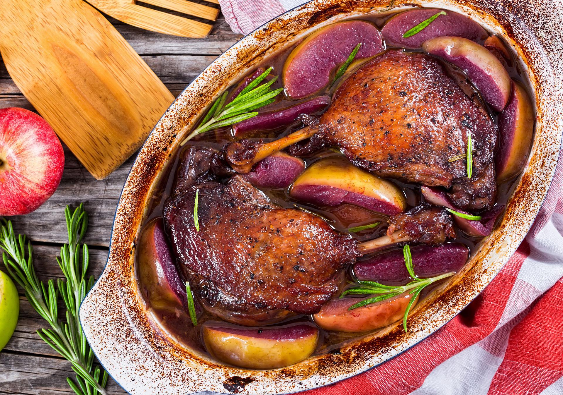canard rôti au vin rouge bourgueil cabernet franc